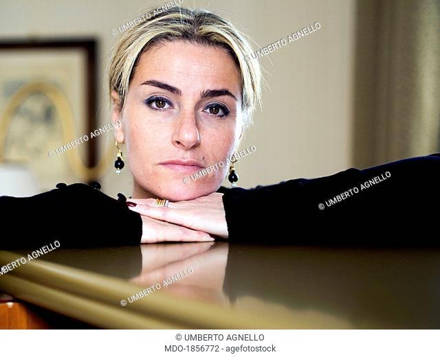 Woman's face. Messina (Italy), November 2013