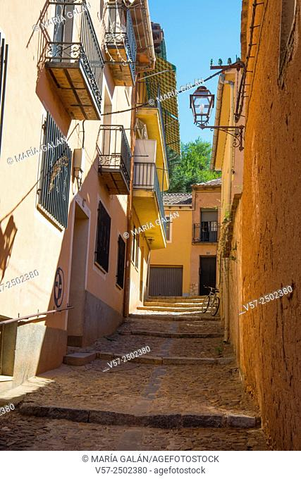 Street. Ayllon, Segovia province, Castilla Leon, Spain