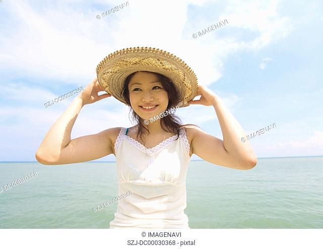 Woman at seashore