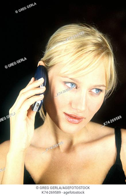 Young Woman On Cellular Phone