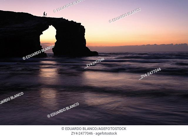The Cathedrals beach. Lugo provence. Galicia. Spain. Europe