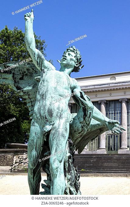 Sculptures in the botanical garden in Brussels, Belgium, Europe