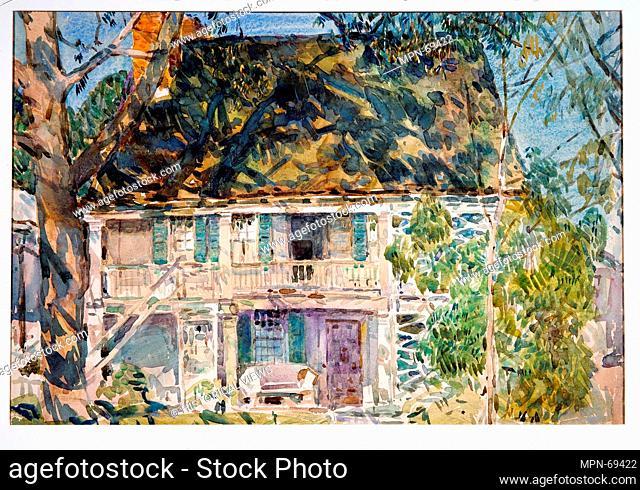 The Brush House. Artist: Childe Hassam (American, Dorchester, Massachusetts 1859-1935 East Hampton, New York); Date: 1916; Medium: Watercolor and graphite on...