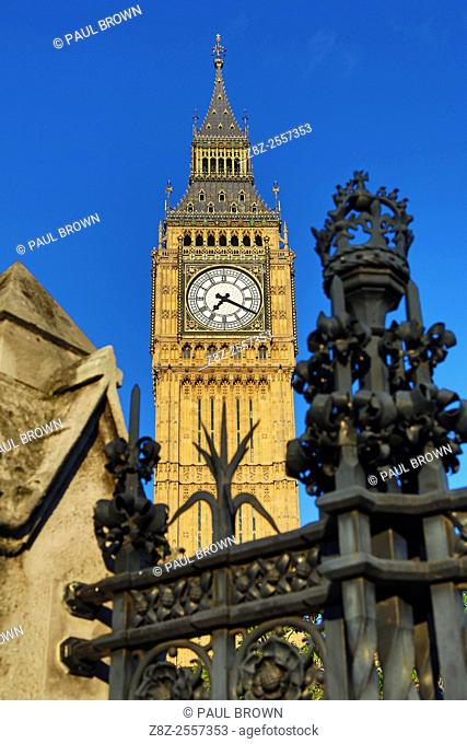 Big Ben at the Houses of Parliament in Westminster, London, England