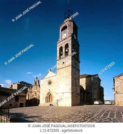 Romanesque church of Nuestra Señora del Azogue, Puebla de Sanabria. Zamora province, Castilla-León, Spain