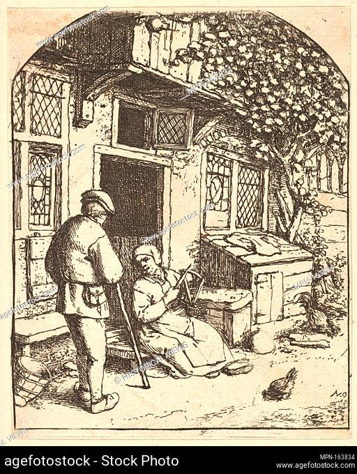 The Winder. Artist: Adriaen van Ostade (Dutch, Haarlem 1610-1685 Haarlem); Date: 1610-85; Medium: Etching; Dimensions: sheet: 3 13/16 x 3 in. (9.7 x 7