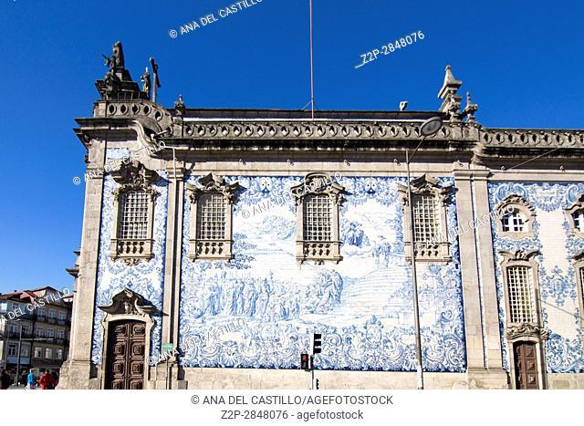 Carmo church in Porto on January 7, 2017 Portugal
