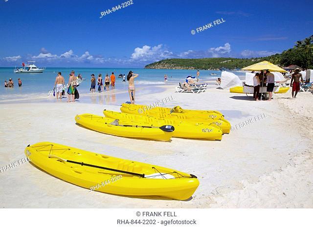 Beach, Dickenson Bay, St. Georges, Antigua, Leeward Islands, West Indies, Caribbean, Central America