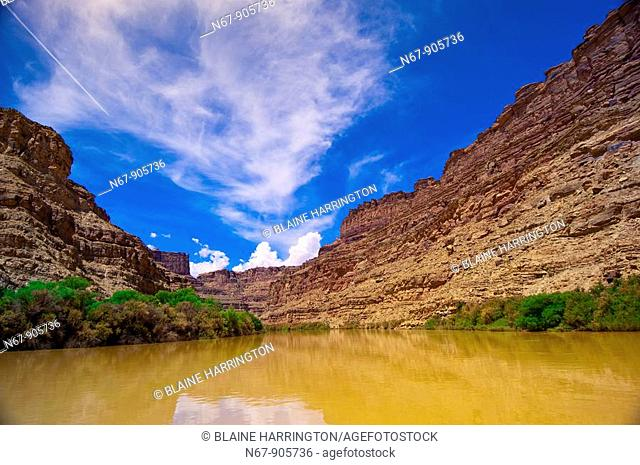 Rafting into 'the Center of the Universe' where the three parts of Canyonlands National Park come together at the confluence of the Colorado and Green Rivers...
