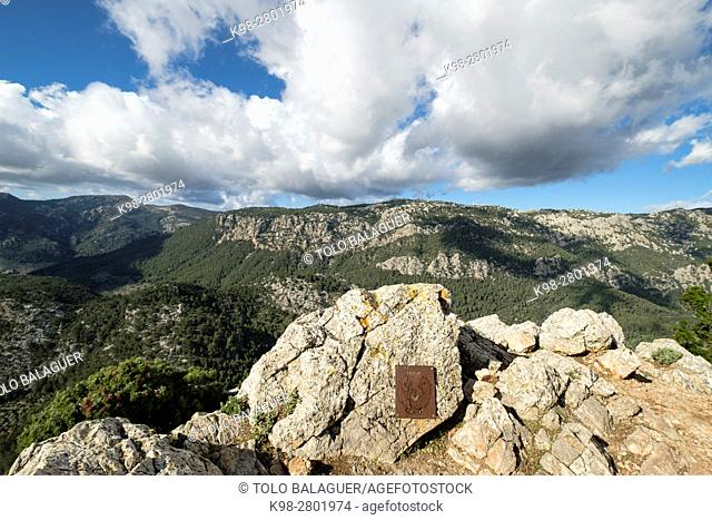 Penyal d Honor, 808 meters, Comuna de Bunyola, communal land, Bunyola, Mallorca, balearic islands, spain, europe