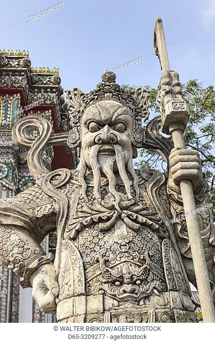 Thailand, Bangkok, Ko Ratanakosin Area, Wat Pho, Stone Giant