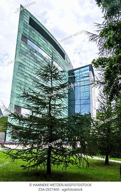 KUMU, art museum in the Kadriorg park of Tallinn, Estonia, Europe