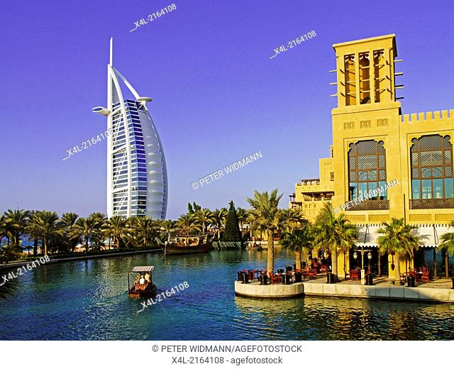 Dubai, hotel Madinat Jumeirah, sevenstar hotel Burj al Arab, United Arab Emirates