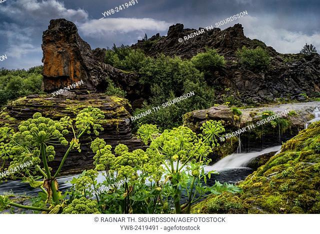 Gjaarfoss waterfall, Thjorsardalur Valley, Iceland