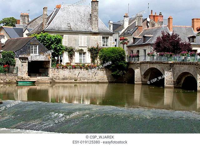Old bridge in Azay Le Rideau.Loire Valley, France
