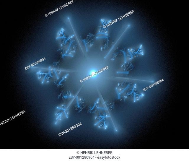 Fractal 29 blue star