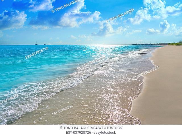 Riviera Maya Caribbean beach turquoise in Mayan Mexico