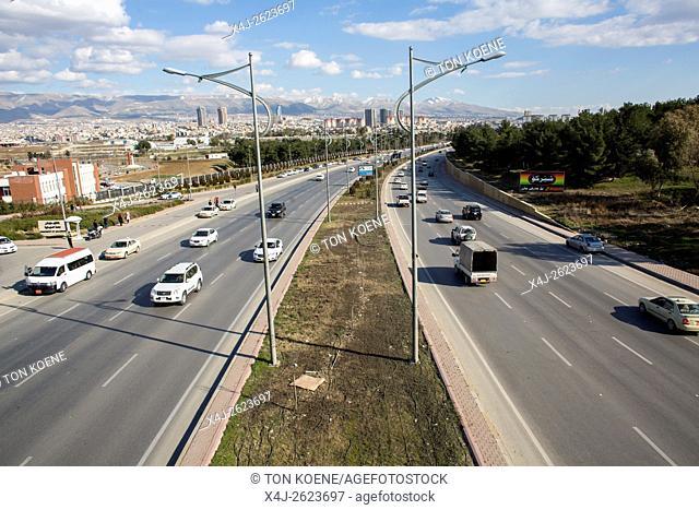 main street in Sulaymaniyah, Northern Iraq