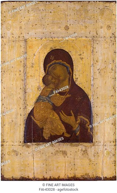 The Virgin of Vladimir by Rublev, Andrei (1360/70-1430)/Tempera on panel/Russian icon painting/Early 15th cen./Russia, Moscow School/State Museum of...