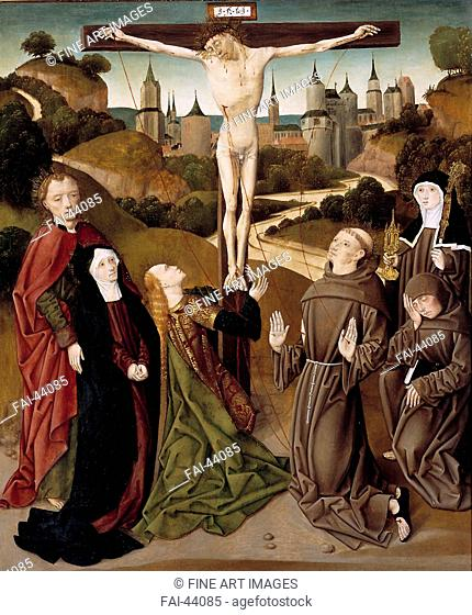 The Crucifixion with the stigmata of Saint Francis of Assisi by Anonymous /Oil on wood/Early Netherlandish Art/c. 1490/The Netherlands/Museum Catharijneconvent
