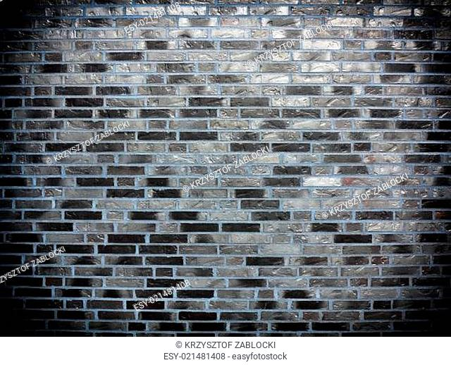 Background of gray brick wall texture