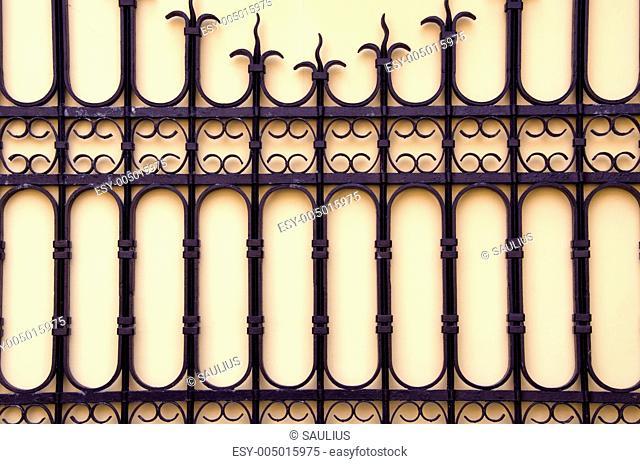 Decorative gate. Architectural metal background