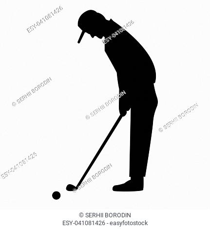 Golfer it is the black color icon