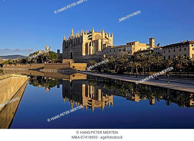 Cathedral La Seu, Palma de Mallorca, Mallorca, Balearic Islands, Spain