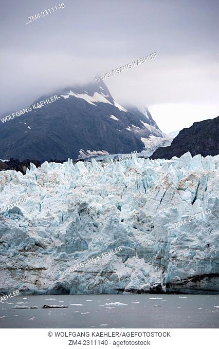 View of the Margerie Glacier, a tidal glacier, in Tarr Inlet in Glacier Bay National Park, Southeast Alaska, USA