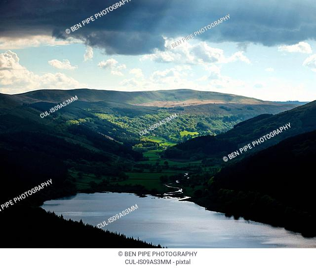Talybont Reservoir and Glyn Collwn Valley, Brecon Beacons National Park, Wales, UK