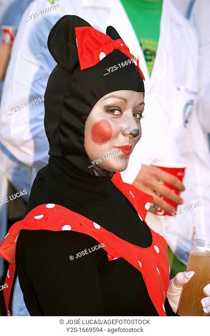 Carnival, Girl disguised as a cat, Cadiz, Spain