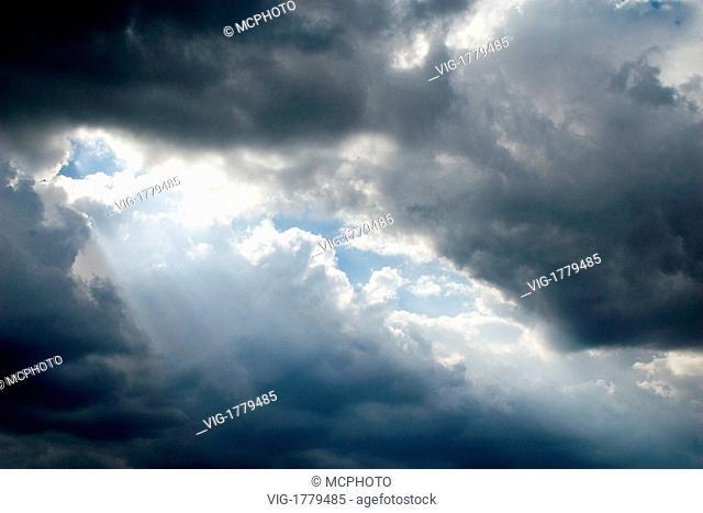 sunrays through clouds - 02/08/2006