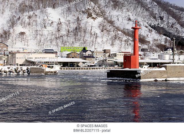 Pier Light at Fishing Port Harbor