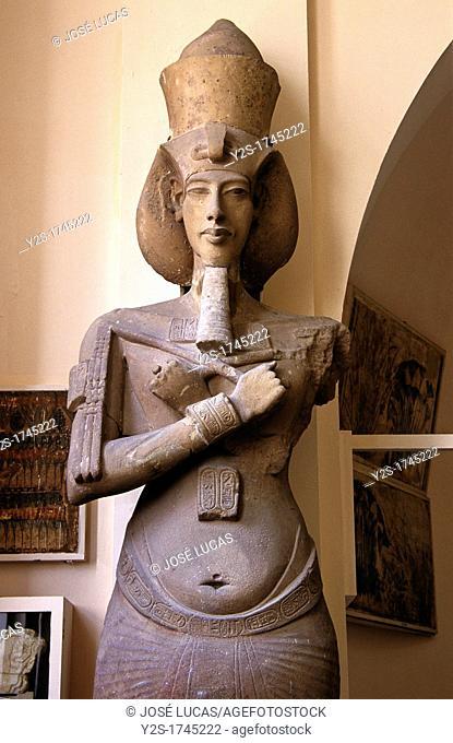 Statue of Pharaoh Akhenaten, 14th century BC, Museum of Egyptian Antiquities, Cairo, Egypt