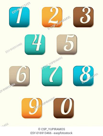 number options banner
