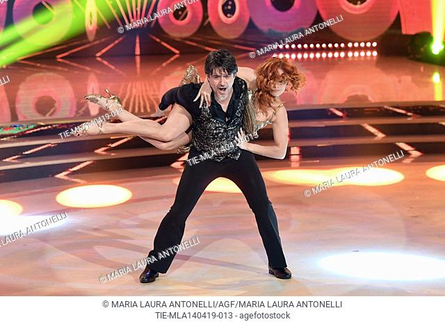 Ettore Bassi during the performance at the talent show ' Ballando con le stelle ' (Dancing with the stars) Rome, ITALY-14-04-2019