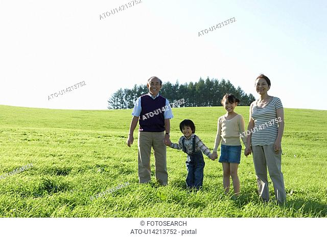 Portrait of Family on Field