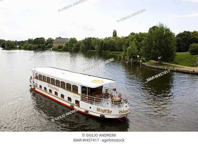 lago tiefer, potsdam, brandeburgo, germania