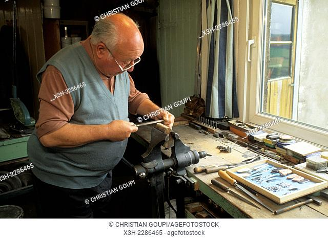 Emile Drouhin, Meilleur ouvrier de France one of the best craftsmen of france, cutler at Nogent, Haute-Marne department, Champagne-Ardenne region, France