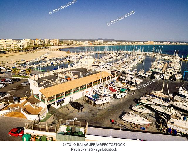 puerto deportivo, Can Pastilla, playa de Palma, Mallorca, balearic islands, spain, europe