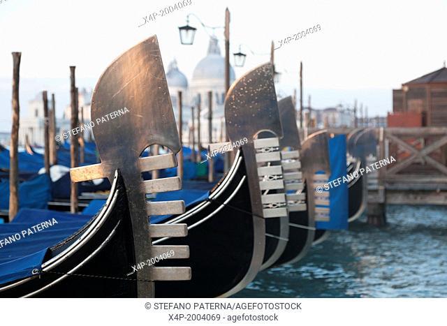 Chiesa Santa Maria della Salute and gondolas, Venice, Italy