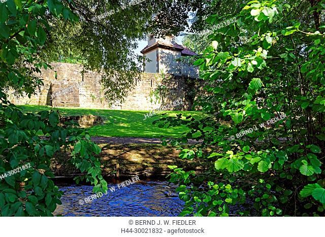 Grünanlage, Stadtmauer, Fluß, Lauter