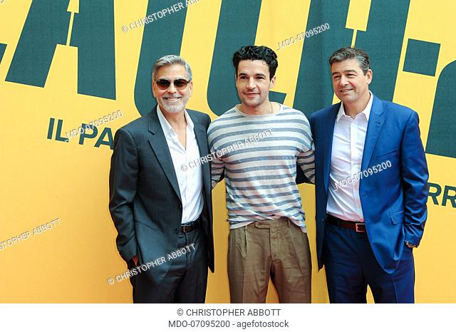 American actors George Clooney, Christopher Abbott and Kyle attend the Sky TV series Catch-22 photocall. Rome (Italy), May 13th, 2019