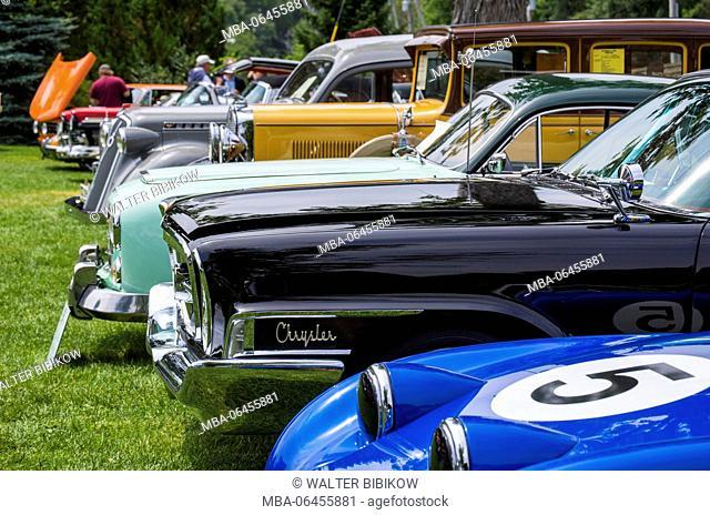 USA, Massachusetts, Beverly Farms, antique cars, car show