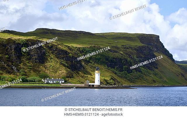 United Kingdom, Scotland, Highland, Inner Hebrides, Argyll and Bute, Isle of Mull, Tobermory, Rubha nan Gall lighthouse