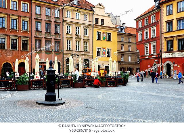 Old Town Market Place, Warsaw, Poland, Europe