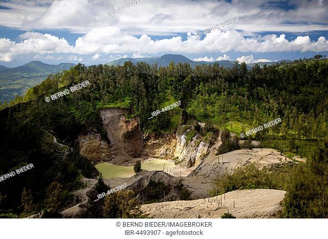 Crater, volcano Wawomuda, Flores, East Nusa Tenggara, Indonesia