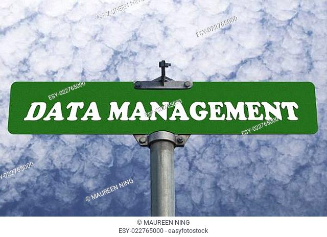 Data management road sign