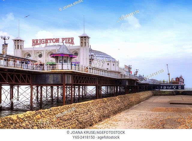 Brighton Pier, Brighton, Sussex, England, United Kingdom
