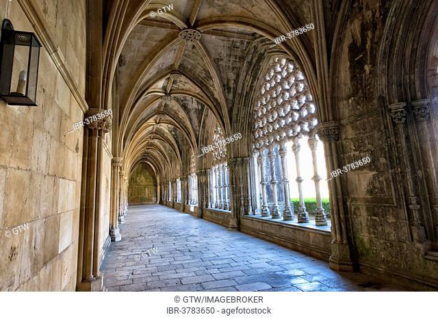 King Don Alfonso V cloister, Dominican abbey Batalha Monastery, Unesco World Heritage Site, Batalha, Leiria district, Portugal